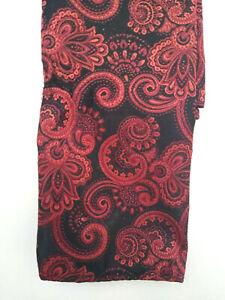 Pocket Square Red / Black Paisley Bill Robinson Brand