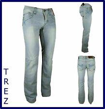 jeans da uomo slim fit estivi leggeri chiari a vita bassa bootcut svasati 44 46