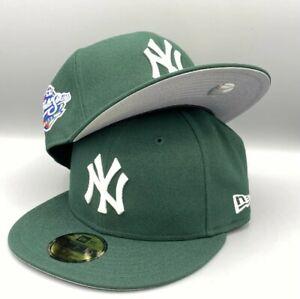 Yankees World Series 1998 59FIFTY New Era Dark Green Fitted Hat Cap Grey Bottom