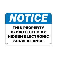 Horizontal Metal Sign Multiple Sizes Protected Hidden Electronic Surveillance