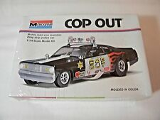 Sealed Vintage Monogram Cop Out Plymouth Duster 1:24 Scale Model Car Kit #7504