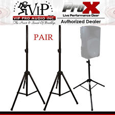 "2 x ProX T-SS26 SPEAKER STAND 44"" to 76"" HEIGHT ADJUSTABLE W/ METAL JOINT (Pair)"