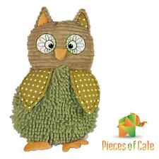Baby Boo™ Green Owl 45cm Cuddly Soft Toy with Rattle FREE Postage