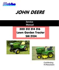 John Deere 300 312 314 316 Lawn & Garden Tractor combo owners / Service manuals