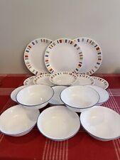17 Pc Retired Corning CORELLE MEMPHIS DINNER  Dessert Plates/ Bowls EUC