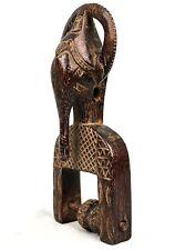 Art Africain Tribal -  Poulie de Métier à Tisser Gouro - Tête Éléphant - 18 Cms