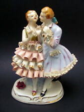 Excellent Vintage Hand Painted Male & Female Lovers Figurine