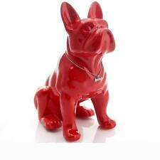 Ceramic French Bulldog Dog Statue Home Decor Crafts Room Decoration Porcelain
