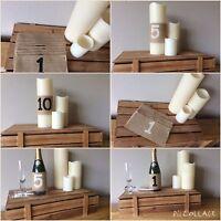 Wedding Table Numbers 1- 5 Hessian Burlap Vintage