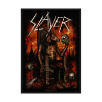 SLAYER Devil On Throne Woven Sew On Patch Official Licensed Band Merch Metsl New