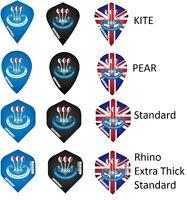 3 x Sets Winmau BDO Dart Flights - Pear - Kite - Standard - 9 Flights in Total