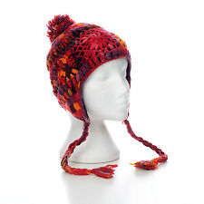 Hand Knitted Winter Woollen Crochet Earflap Hat, One Size, UNISEX CFEH3