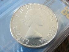 1962 Canada Elizabeth II SILVER 50 Cent (50¢) CCCS PL-66