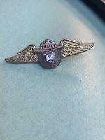 "Vintage Smokey Bear Plastic Wings Pin Pinback 2"""