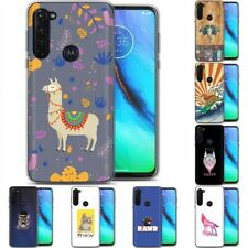 TPU Phone Case Cover for Motorola G Stylus,G7 Play,Power,Plus,Animal Wild Print