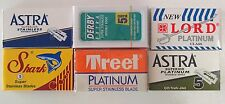 35 Double Edge Razor Blade Sampler Astra, Lord, Derby, Shark Treet+ Rating Sheet