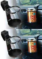2 x Universal In Car Drinks Cup Bottle Can Holder Foldable & Clip On