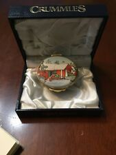 """Rare Crummles and Co. English Enamel Box """"The Stamp House�"""