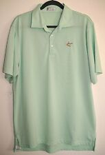 Peter Millar Mint Green Ss Polo Wick Knit-Golf Tee & Mound Embroidery Logo-L