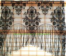 Gothic Black Lace SKULL BAT CURTAIN VALANCE TOPPER SHAWL Halloween Haunted House