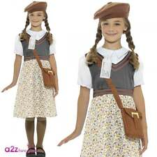 Girls Ww2 Evacuee School Girl Fancy Dress Costume Childs Outfit by Smiffys Medium 7-9 Yrs