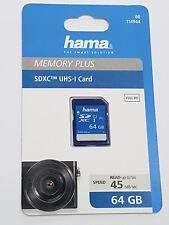 HAMA SDXC 64GB CLASS 10 UHS-I 45MB/S SECURE DIGITAL CARD MEMORY PLUS 114944