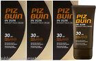 3 x 40ml Piz Buin In Sun Radiant Face Cream SPF 30 HIGH UVA UVB Facial Sun Cream