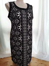 BLACK Lazer cut lace over neutral slip lined desk to dinner Party DRESS 18 NEW