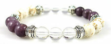 CROWN CHAKRA BALANCER 8mm Crystal Intention Bracelet w/Description Card