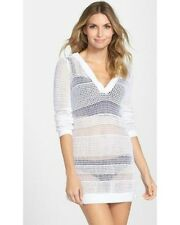 NWT L TOMMY BAHAMA Sexy Crochet Beach Swimsuit Cover Up Sweater Tunic $118 Large