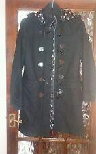 Henleys long black wool coat size 1