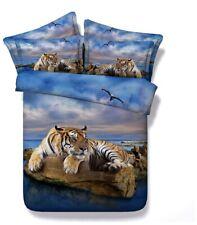 3D Blue Tiger Digital Print 4PCS Full Size Duvet Cover Set