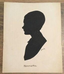 "Original Silhouette ""Henrietta"" by Capt H L Oakley Llandudno North Wales 1945"