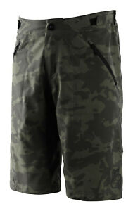 Troy Lee Designs MTB / Bicycle Mens Skyline Shorts W/Liner - Camo Green