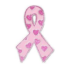 Breast Cancer Awareness Pink Glitter Hearts Lapel Pin Tac New