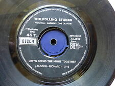 ROLLING STONES Let's spend the night together / ruby tuesday 72087   JUKE BOX