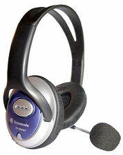 NEW DYNAMODE DH-660MV STEREO HEADSET FULL EAR COVER W/ ADJUSTABLE MICROPHONE