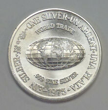 {BJSTAMPS}  1975 International Silver Trade Unit  .999 Silver Round 1 ozt.