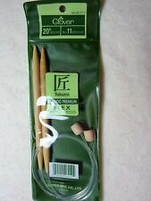 CLOVER 20  INCH NUMBER 11 FLEX BAMBOO KNITTING NEEDLES