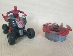 Spiderman Marvel 2012 Figure And Quad Bike Vehicle & Spider Sound Light Symbol
