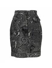 Moschino Skirt Jeans Short Vintage Floral Black Cotton