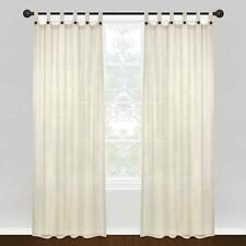 NEW Park B. Smith Vintage House Eco Leno 84-Inch Window Tab Top Panel in Natural