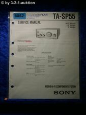Sony Service Manual TA SP55 Micro Component System (#6052)