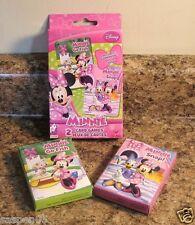 Disney MINNIE MOUSE Card Game Set of 2 Snap Go Fish NEW