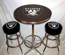 2 Oakland Raiders NFL Bar Stools & Table