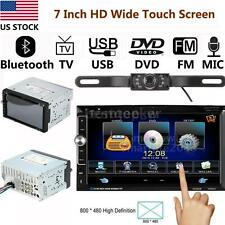 "7"" Touch Screen Double Din Auto Car Stereo Dvd Player Radio w/Mic with Hd Camera"