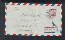 Kuwait Air mail Cover Alamadi circ. 1952 to Dresden Germany