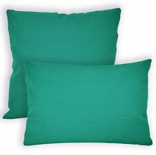 Aw16a Tourqoise High Quality 12oz Cotton Cushion Cover/Pillow Case Custom Size