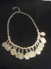 *Vintage Style Silver Coin Necklace*