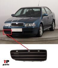 FOR SKODA OCTAVIA (1U) 2001 - 2004 NEW FRONT BUMPER FOGLIGHT GRILL BLACK RIGHT